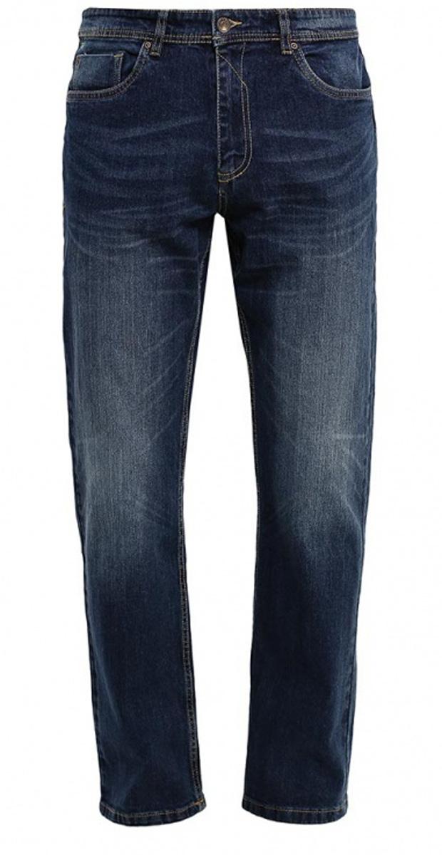 Джинсы мужские Sela, цвет: темно-синий джинс. PJ-235/1076-7161. Размер 30-34 (46-34)PJ-235/1076-7161Стильные мужские джинсы Sela, изготовленные из качественного эластичного хлопка с потертостями, станут отличным дополнением гардероба. Джинсы прямого кроя и стандартной посадки на талии застегиваются на застежку-молнию и пуговицу. На поясе имеются шлевки для ремня. Модель представляет собой классическую пятикарманку: два втачных и накладной карманы спереди и два накладных кармана сзади.