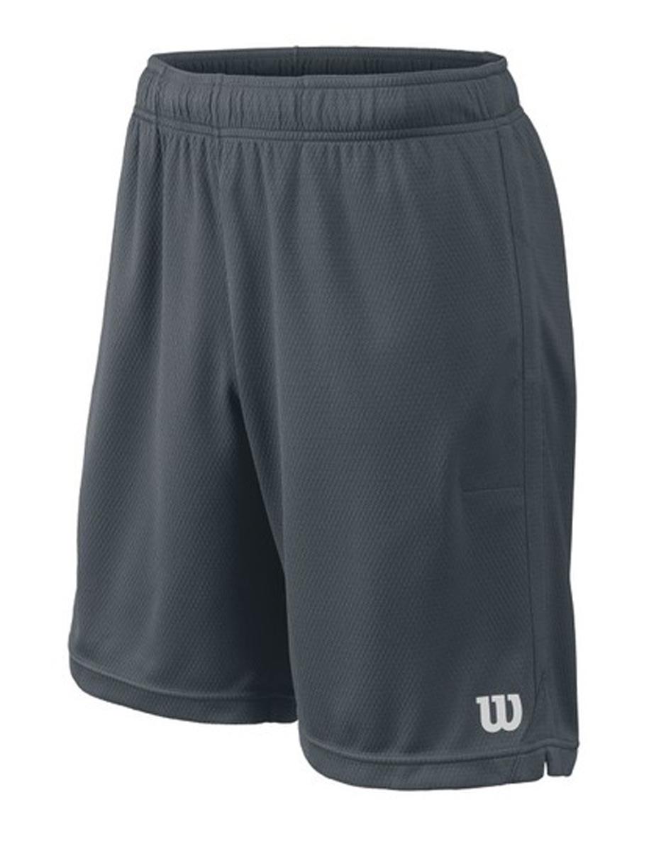 Шорты для тенниса мужские Wilson Knit 9 Short, цвет: серый. WRA746802. Размер XXL (58)WRA746802Классические шорты для тенниса Wilson, разработанные теннисистами для теннисистов. Сочетают в себе весь спектр самых новейших разработок Wilson: 1) теннисный карман Wilson; 2) nanoWik - технология влаговыведения; 3) nanoUV - технология защиты от УФ-излучения.