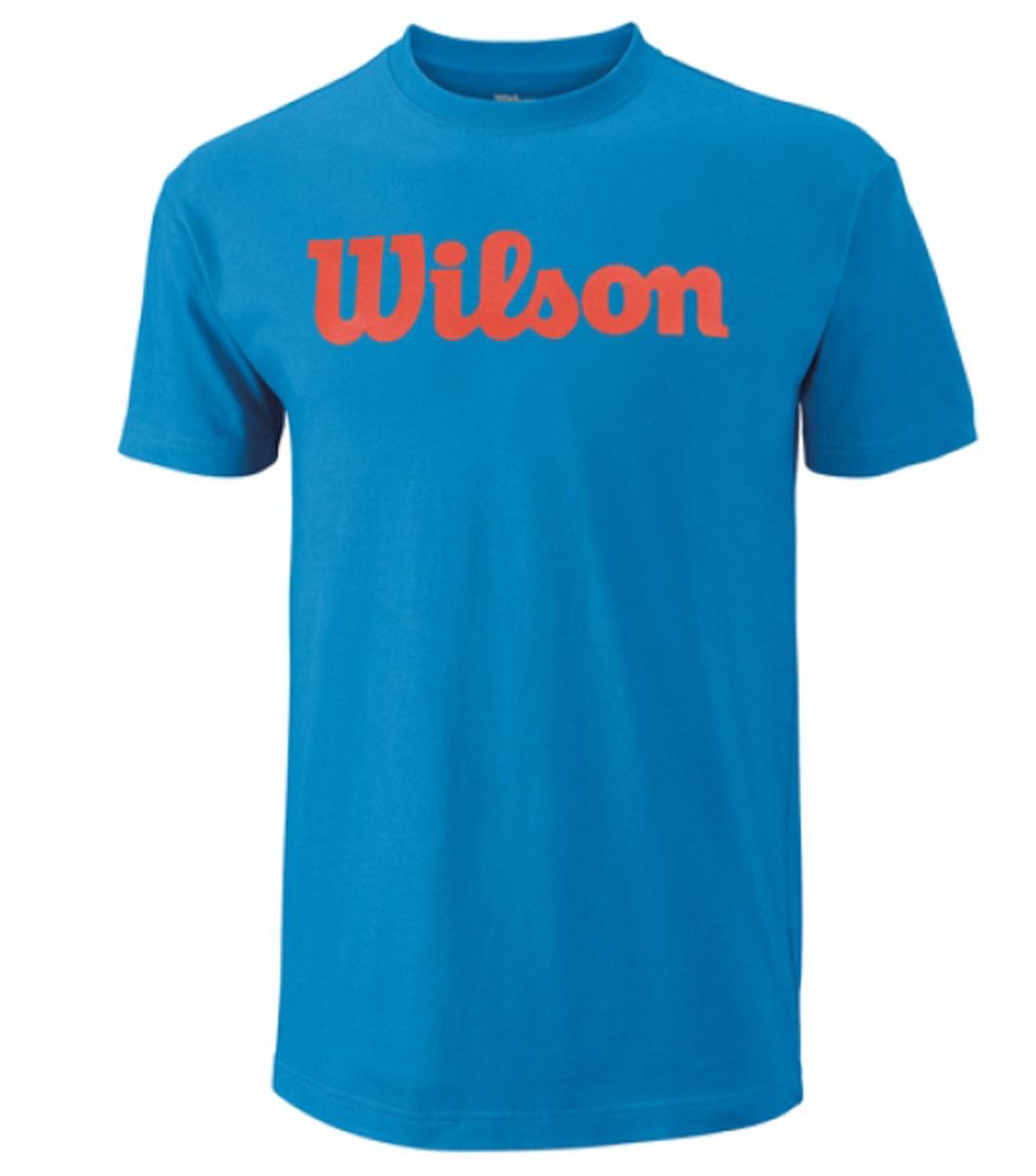 ФутболкаWRA747801Тренировочная футболка с логотипом Wilson. Спортивный крой для оптимального комфорта. Модель выполнена с круглой горловиной и короткими рукавами.