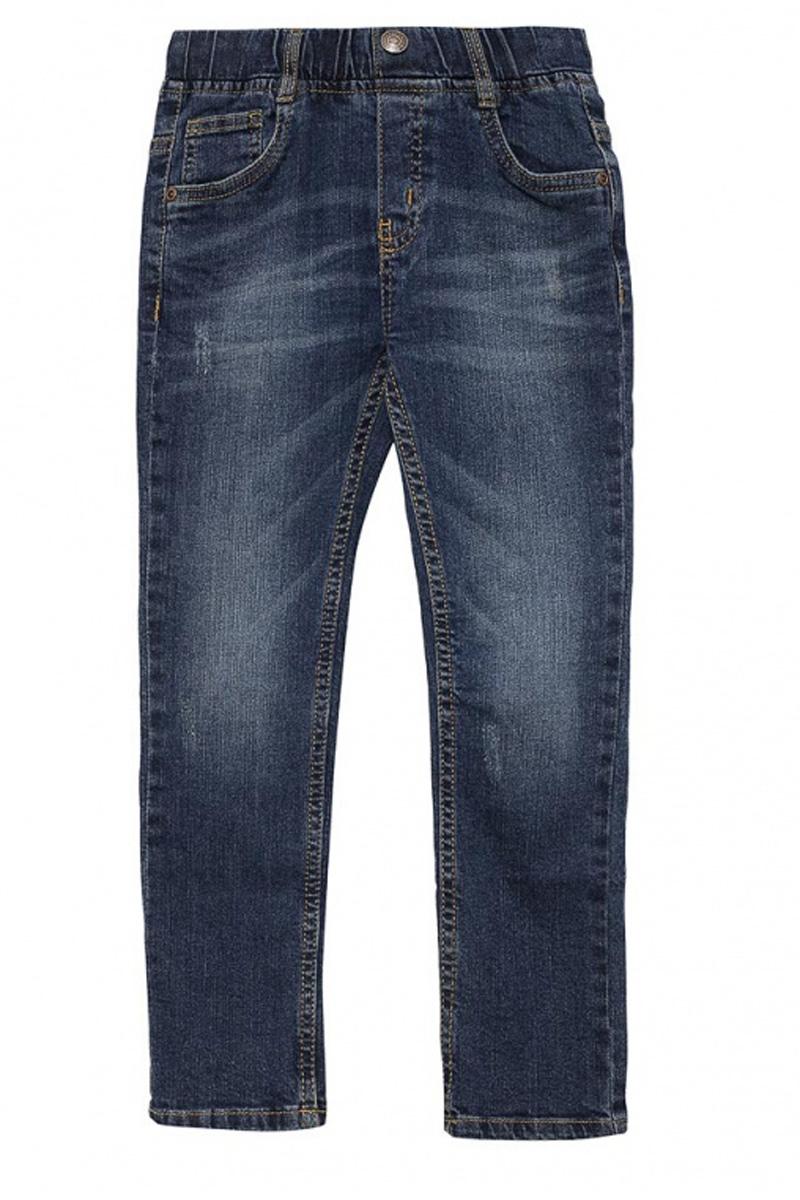 ДжинсыPJ-735/054-7131Стильные джинсы для мальчика Sela выполнены из качественного эластичного хлопка с эффектом потертостей. Джинсы зауженного кроя и стандартной посадки на талии имеют широкий пояс на мягкой резинке, дополненный шлевками для ремня. Изделие оформлено имитацией ширинки и декоративной пуговицей. Модель представляет собой классическую пятикарманку: два втачных и один маленький накладной кармашек спереди и два накладных кармана сзади.