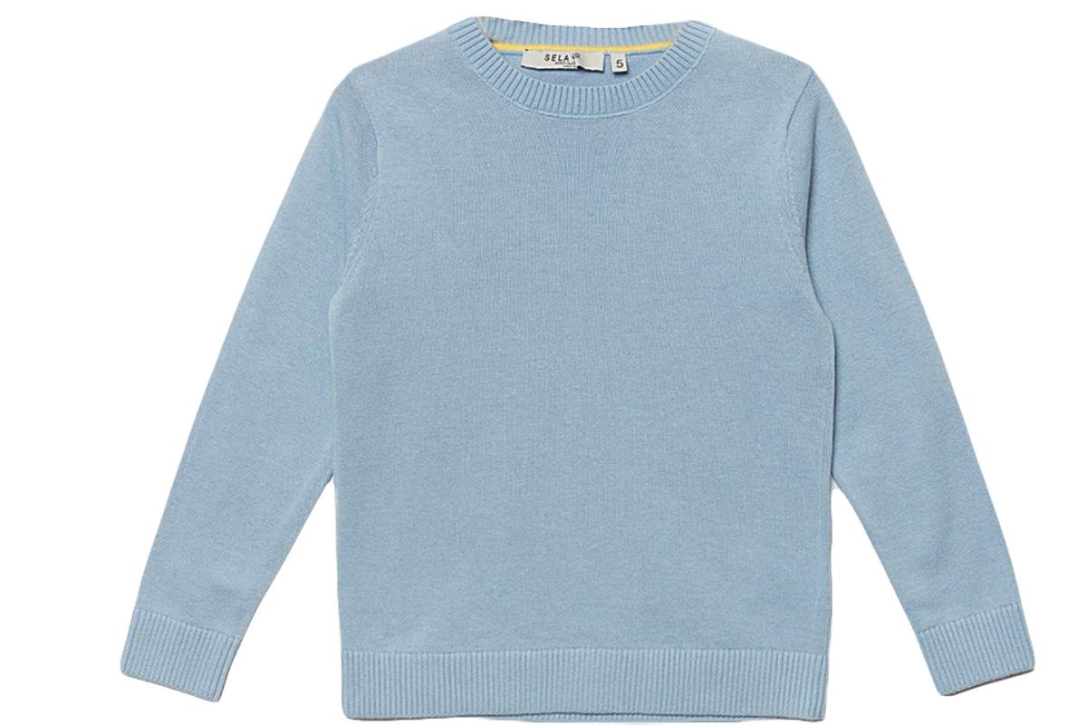 ДжемперJR-714/168-7161Стильный джемпер для мальчика Sela выполнен из натурального хлопка мелкой вязки. Модель прямого кроя с длинными рукавами подойдет для прогулок и дружеских встреч и будет отлично сочетаться с джинсами и брюками. Мягкая ткань комфортна и приятна на ощупь. Воротник, манжеты рукавов и низ изделия связаны резинкой.