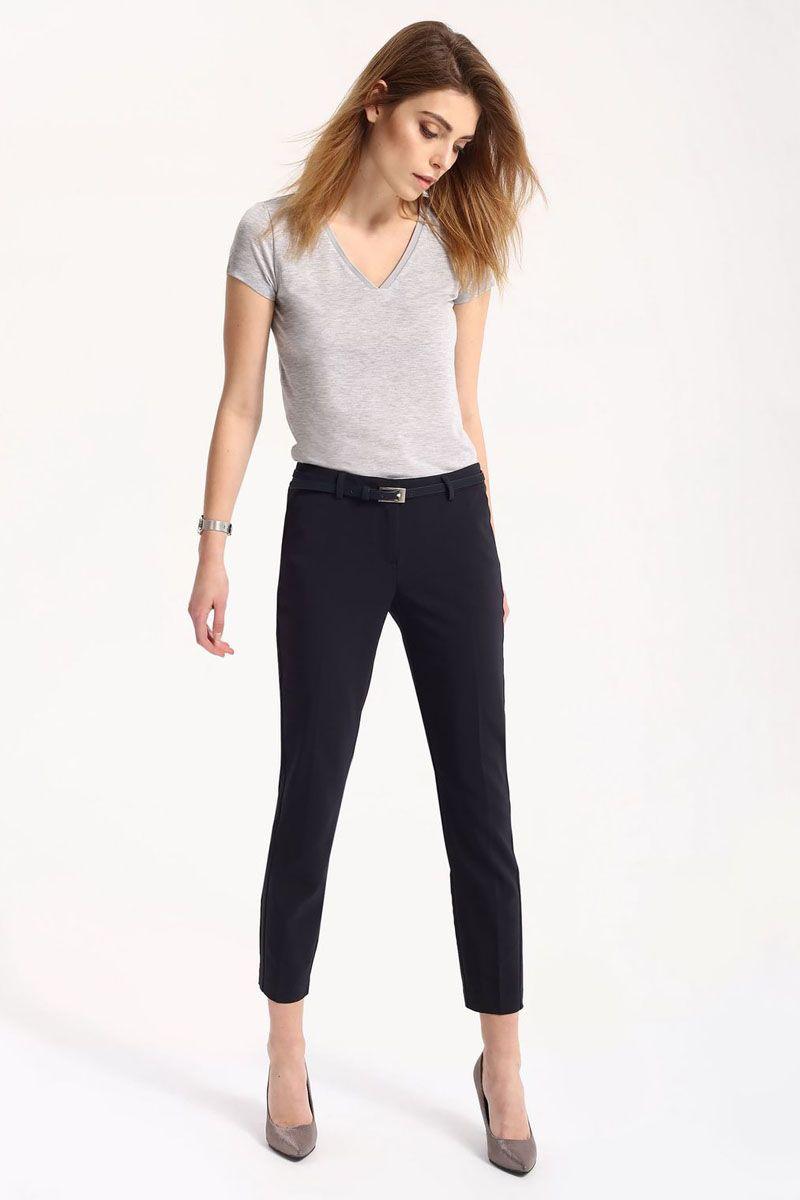 Брюки женские Top Secret, цвет: темно-синий. SSP2430GR. Размер 40 (48)SSP2430GRСтильные женские брюки Top Secret - брюки высочайшего качества на каждый день, которые прекрасно сидят. Модель изготовлена из высококачественного комбинированного материала. Эти модные и в тоже время комфортные брюки послужат отличным дополнением к вашему гардеробу. В них вы всегда будете чувствовать себя уютно и комфортно.