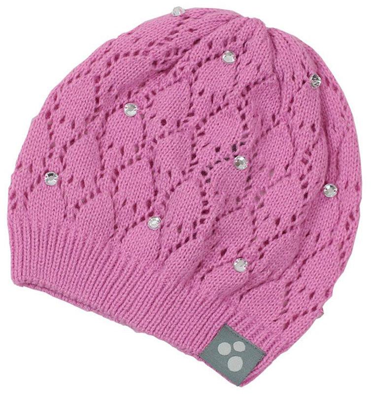 Шапка для девочки Huppa Lacy, цвет: розовый. 80390000-70013. Размер S (47/49)80390000-70013Вязаная шапочка Huppa Lacy согреет вашего ребенка в прохладную погоду. Шапочка с ажурным рисунком декорирована стразами.