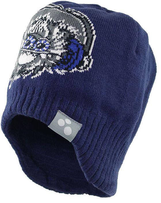 Шапка детская80400000-70046Теплая яркая вязаная шапочка Huppa Tanner с принтом согреет вашего ребенка в прохладную погоду. Шапочка изготовлена из натурального хлопка и акрила.