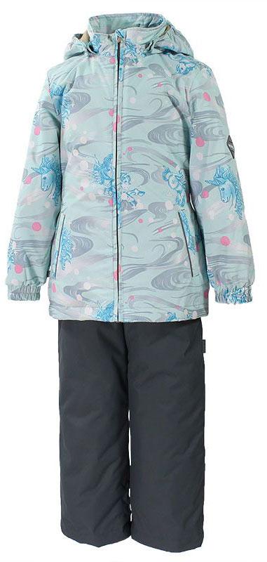 Комплект верхней одежды41260004-71127Комплект верхней одежды для девочки Huppa состоит из куртки и брюк. Комплект выполнен из водонепроницаемой и ветрозащитной ткани. Куртка с капюшоном и воротником-стойкой застегивается на пластиковую молнию. На рукавах предусмотрены манжеты, препятствующие проникновению холодного воздуха. Спереди расположены два прорезных кармана. Оформлено изделие ярким принтом. Брюки спереди застегиваются на пластиковую молнию. Модель дополнена эластичными наплечными лямками, регулируемыми по длине. На талии предусмотрена широкая резинка. Ширина штанин снизу регулируется. Комплект снабжен светоотражающими элементами, которые не оставят вашего ребенка незамеченным в темное время суток.