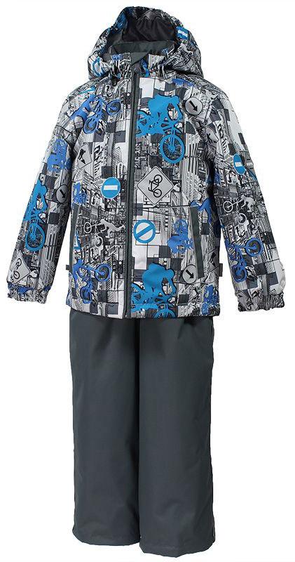 Комплект верхней одежды41190114-72209Комплект верхней одежды для мальчика Huppa Yoko выполнен из износостойкого полиэстера и состоит из куртки и брюк. В качестве подкладки и утеплителя используется качественный полиэстер. Брюки застегиваются на молнию и металлическую кнопку. Изделие дополнено съемными резиновыми подтяжками, длину которых можно регулировать. На талии имеется вшитая эластичная резинка. Снизу брючин предусмотрены шнурки-утяжки со стопперами. Куртка со съемным капюшоном и воротником-стойкой застегивается на пластиковую молнию. Капюшон пристегивается при помощи металлических кнопок. Манжеты рукавов собраны на внутренние резинки, низ куртки оснащен эластичным шнурком. Спереди модель дополнена двумя врезными карманами. Комплект оснащен светоотражающими элементами.