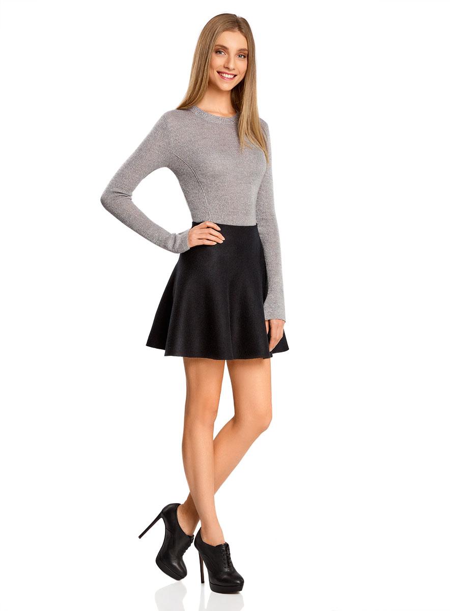 Юбка63612030/46096/2500MСтильная юбка-клеш выполнена из высококачественного материала.