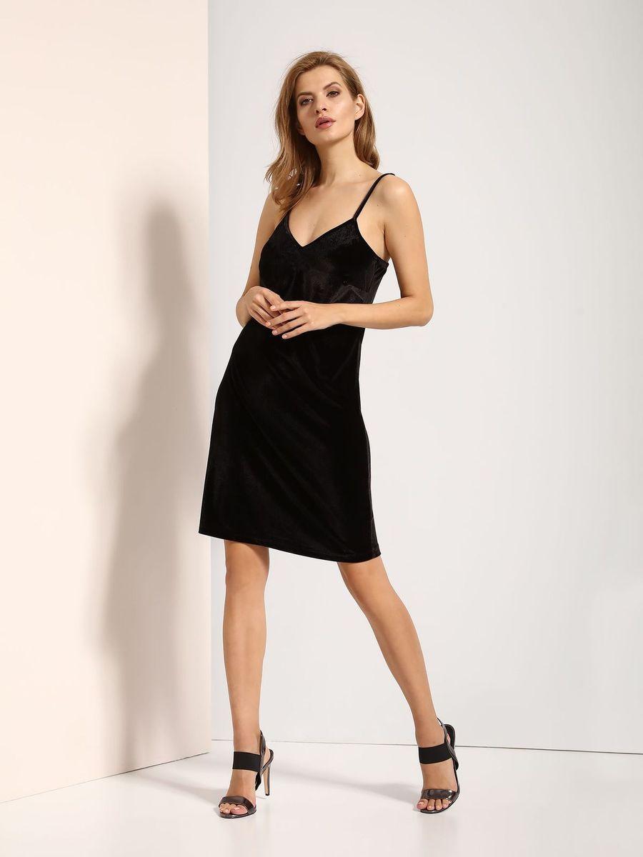 Платье Top Secret, цвет: черный. SSU1771CA. Размер 42 (50)SSU1771CAПлатье Top Secret выполнено из полиэстера и эластана. Модель на бретельках.