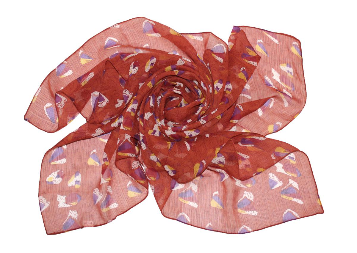 Платок женский Ethnica, цвет: коричневый, фиолетовый. 524040н. Размер 90 см х 90 см524040н_82Платок Ethnica, выполненный из вискозы, гармонично дополнит образ современной женщины. Благодаря своему составу, он легкий, мягкий и приятный на ощупь. Модель оформлена оригинальным принтом. Классическая квадратная форма позволяет носить платок на шее, украшать им прическу или декорировать сумочку. С таким платком вы всегда будете выглядеть женственно и привлекательно.