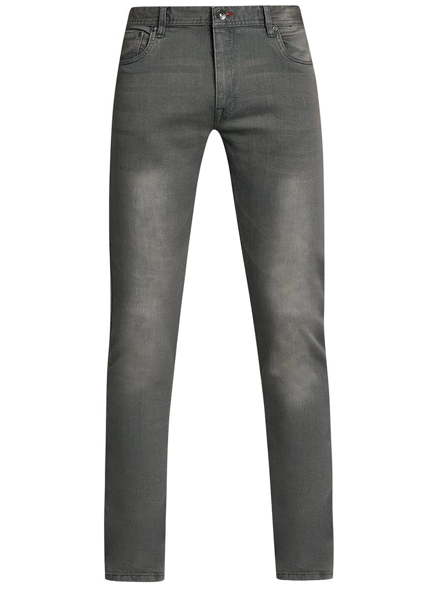 Джинсы мужские oodji Basic, цвет: серый джинс. 6B120047M/46627/2300W. Размер 31-32 (48-32)6B120047M/46627/2300WМужские джинсы oodji Basic выполнены из высококачественного материала. Модель-слим средней посадки по поясу застегивается на пуговицу и имеют ширинку на застежке-молнии, а также шлевки для ремня. Джинсы имеют классический пятикарманный крой: спереди - два втачных кармана и один маленький накладной, а сзади - два накладных кармана.