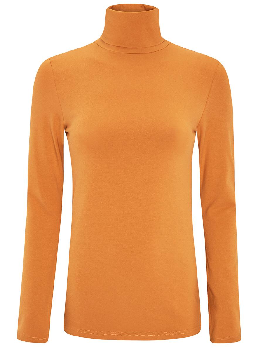 Водолазка женская oodji Ultra, цвет: желтый. 15E02001B/46147/5200N. Размер L (48)15E02001B/46147/5200NБазовая женская водолазка oodji Ultra выполнена из эластичной хлопковой ткани. У модели воротник-гольф и стандартные длинные рукава.