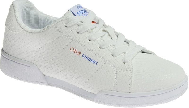 Кроссовки женские Strobbs, цвет: белый. F6501-6. Размер 39F6501-6Стильные женские кроссовки Strobbs отлично подойдут для повседневной носки. Верх модели выполнен из искусственной кожи. Удобная шнуровка надежно фиксирует модель на стопе. Подошва обеспечивает легкость и естественную свободу движений. Мягкие и удобные, кроссовки превосходно подчеркнут ваш спортивный образ и подарят комфорт.