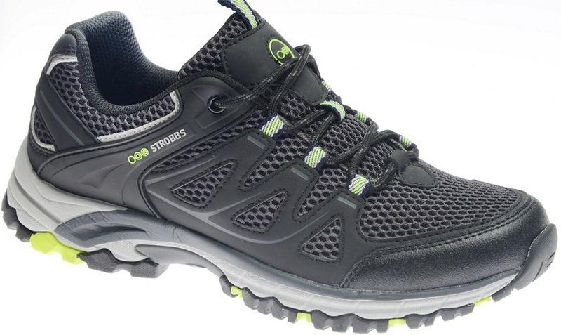 Кроссовки мужские Strobbs, цвет: серый. C2447-1. Размер 44C2447-1Стильные мужские кроссовки Strobbs отлично подойдут для активного отдыха и повседневной носки. Верх модели выполнен из микрофибры и искусственной кожи. Удобная шнуровка надежно фиксирует модель на стопе. Толстая, протекторная подошва позволяет комфортно ощущать себя на каменистой поверхности. Промежуточный слой подошвы выполнен из ЭВА-материала, что позволяет снизить вес обуви.
