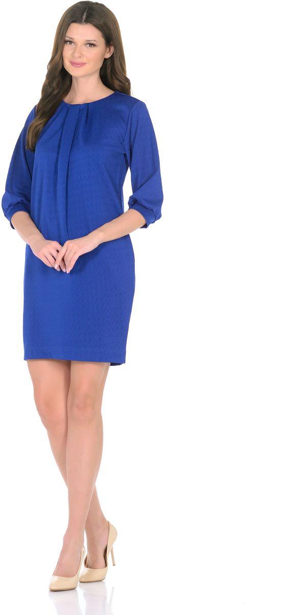 Платье3285-11Трикотажное платье от Rosa Blanco совмещает в себе комфорт и элегантность. Платье идеально подходит как для офиса, так и для более непринужденной обстановки. Модель нарочито лаконичного прямого кроя наделена неповторимой выразительностью благодаря фактурной ткани. Складки у круглого выреза и рукава ? на манжетаж подчеркивают женственную элегантность модели. В боковом шве расположены карманы. Простота кроя и минимум отделки позволят Вам поэкспериментировать с аксессуарами. Создавайте Ваш стиль с удовольствием. Ткань - плотный трикотаж, характеризующийся эластичностью, растяжимостью и мягкостью. Состав ткани: 72% вискоза, 25% полиэфир, 3% лайкра. Рост модели на фото 170 см (+ каблук).
