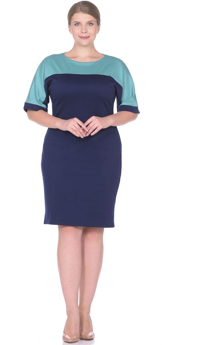 Платье33010-11-35Элегантное платье построенное на сочетнии двух контрастных цветов. Рукав цельнокройный заканчивается манжетом из полотна основного цвета. Сочетание контрастных цветов позволяет с лёгкостью подобрать аксессуары. Вырез горловины лодочка. Рукав 1/2. Длина изделия 98-100 см. Ткань - плотный трикотаж, характеризующийся эластичностью, растяжимостью и мягкостью. Состав ткани: 78% вискоза, 19% полиэстер, 3% эластан. Рост модели на фото 173 см (+ каблук).