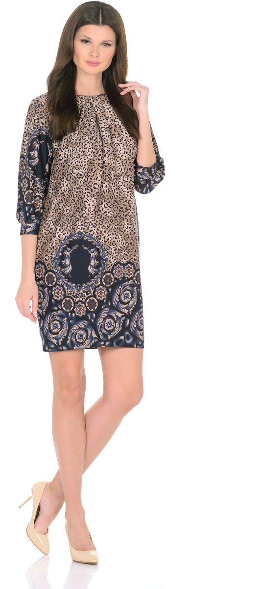 Платье3385-Г1Трикотажное платье от Rosa Blanco совмещает в себе комфорт и элегантность. Платье идеально подходит как для офиса, так и для более непринужденной обстановки. Модель нарочито лаконичного прямого кроя наделена неповторимой выразительностью благодаря эффектному греческому орнаменту. Складки у круглого выреза и рукава ? на манжетаж подчеркивают женственную элегантность модели. В боковом шве расположены карманы. Простота кроя и минимум отделки позволят Вам поэкспериментировать с аксессуарами. Создавайте Ваш стиль с удовольствием. Ткань - плотный трикотаж, характеризующийся эластичностью, растяжимостью и мягкостью. Состав ткани: 78% вискоза, 19% полиэстер, 3% эластан. Рост модели на фото 170 см (+ каблук).
