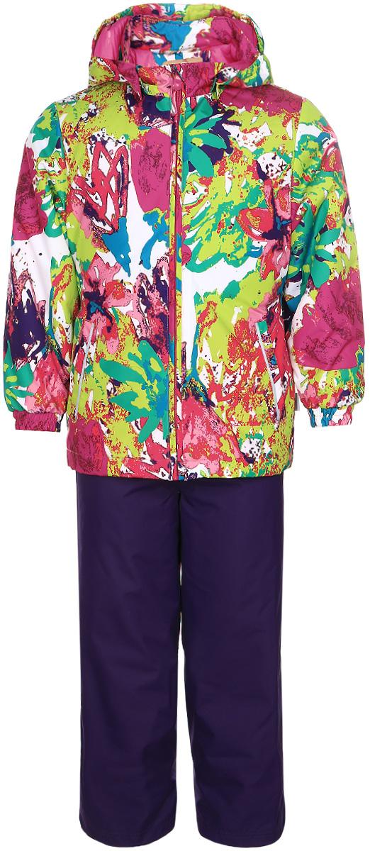 Комплект верхней одежды41260014-71173Комплект верхней одежды для девочки Huppa Yonne выполнен из износостойкого полиэстера и состоит из куртки и брюк. В качестве подкладки и утеплителя используется полиэстер. Ткань имеет водонепроницаемость 10000 мм, воздухопроницаемость 10000 г/м2. Брюки с высокой грудкой застегиваются на молнию. Изделие дополнено мягкими резиновыми лямками, регулируемыми по длине. На талии сзади и по бокам предусмотрена вшитая эластичная резинка. Снизу брючин предусмотрены шнурки-утяжки со стопперами. Куртка со съемным капюшоном и воротником-стойкой застегивается на застежку-молнию. Капюшон пристегивается при помощи кнопок. Манжеты рукавов и спинка на талии собраны на внутренние резинки. Спереди модель дополнена двумя врезными карманами. Комплект оснащен светоотражающими элементами.