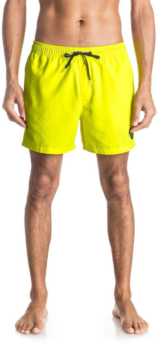 Шорты мужские Quiksilver, цвет: желтый. EQYJV03200-YHJ0. Размер L (52)EQYJV03200-YHJ0Шорты мужские Quiksilver изготовлены из качественного полиэстера. Модель длиной выше колен выполнена с резинкой и утягивающим шнурком на талии. Изделие дополнено карманами.