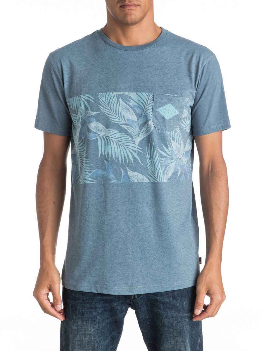 Футболка мужская Quiksilver, цвет: голубой. EQYKT03545-BRQ0. Размер M (48/50)EQYKT03545-BRQ0Мужская футболка Quiksilver изготовлена из качественного материала. Модель выполнена с круглой горловиной и короткими рукавами. На груди модель дополнена карманом.