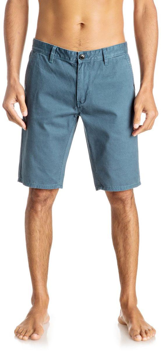 Шорты мужские Quiksilver, цвет: голубой. EQYWS03252-BQK0. Размер 30 (46)EQYWS03252-BQK0Шорты мужские Quiksilver изготовлены из качественной ткани. Модель длиной до колен застегивается на молнию и пуговицу. Изделие дополнено карманами.