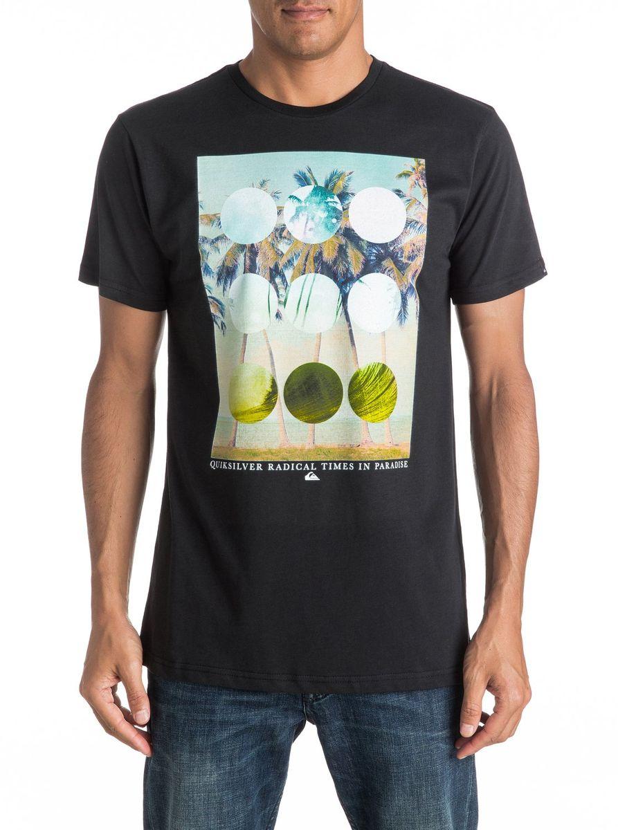 ФутболкаEQYZT04282-WBB0Мужская футболка Quiksilver изготовлена из качественного материала. Модель выполнена с круглой горловиной и короткими рукавами.