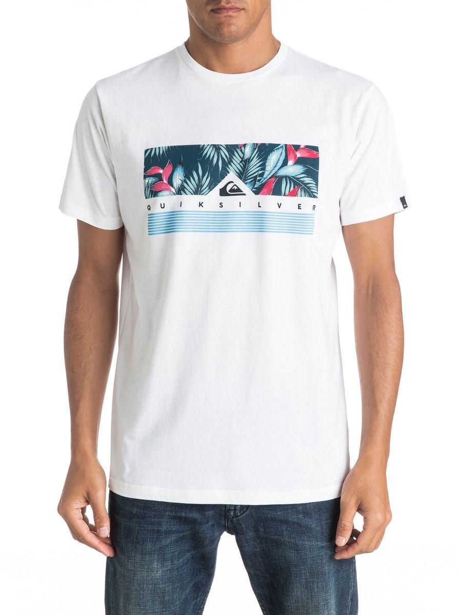 Футболка мужская Quiksilver, цвет: белый. EQYZT04284-WBB0. Размер M (48/50)EQYZT04284-WBB0Мужская футболка Quiksilver изготовлена из качественного материала. Модель выполнена с круглой горловиной и короткими рукавами.