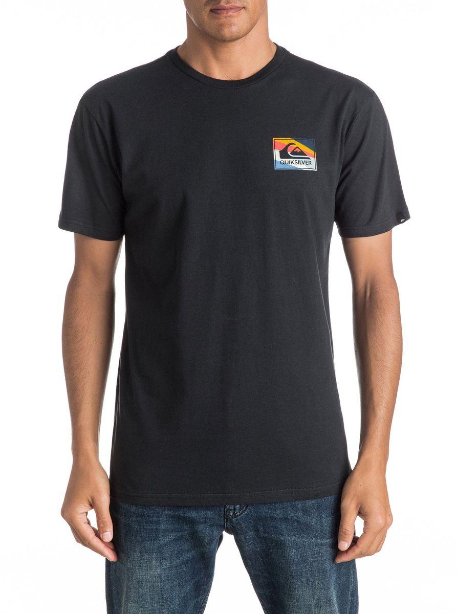 ФутболкаEQYZT04298-BYH0Мужская футболка Quiksilver изготовлена из качественного материала. Модель выполнена с круглой горловиной и короткими рукавами.