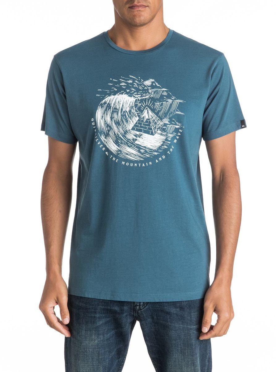 ФутболкаEQYZT04323-BQK0Мужская футболка Quiksilver изготовлена из качественного натурального материала. Модель выполнена с круглой горловиной и короткими рукавами.