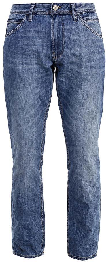 Джинсы мужские Tom Tailor Denim, цвет: синий. 6205038.01.12_1051. Размер 34-34 (50-34)6205038.01.12_1051Модные мужские джинсы Tom Tailor Denim выполнены из высококачественного 100% хлопка. Джинсы прямой модели имеют заниженную талию. Застегиваются на пуговицу в поясе и ширинку на молнии. Имеются шлевки для ремня. Спереди расположены два прорезных кармана и один небольшой накладной карман, а сзади - два накладных кармана.