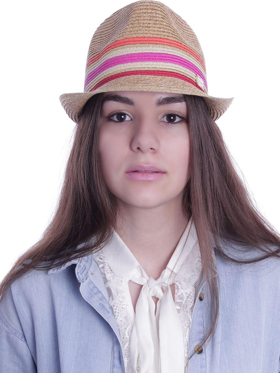 Шляпа женская Avanta, цвет: бежевый, красный, фуксия, оранжевый. 991953. Размер 55/56991953Стильная летняя шляпа Avanta, выполненная из бумаги с добавлением полиэстера, станет незаменимым аксессуаром для пляжа и отдыха на природе, и обеспечит надежную защиту головы от солнца. Шляпа оформлена плетением. Шляпа по тулье сбоку дополнена металлической пластиной с кристаллами. Такая шляпа подчеркнет вашу неповторимость и дополнит ваш повседневный образ.