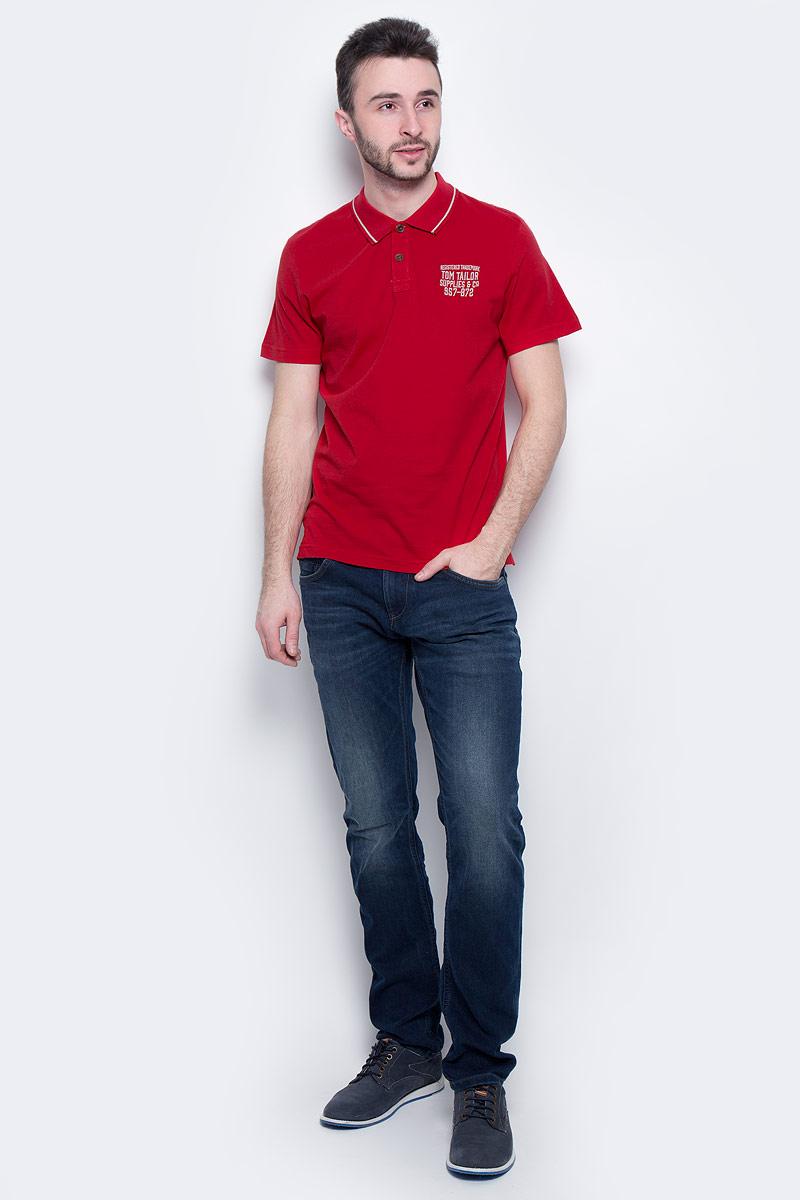 Поло1531037.00.10_4534Мужская футболка-поло Tom Tailor выполнена из 100% хлопка. Модель с отложным воротником, застегивающимся на пуговицы, и стандартными короткими рукавами. Футболка дополнена оригинальной вышитой надписью.