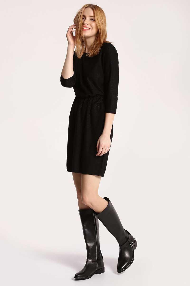 Платье Top Secret, цвет: черный. SSU1761CA. Размер 36 (44)SSU1761CAПлатье Top Secret выполнено из вискозы и полиэстера. Модель с круглым вырезом горловины и рукавами 3/4.