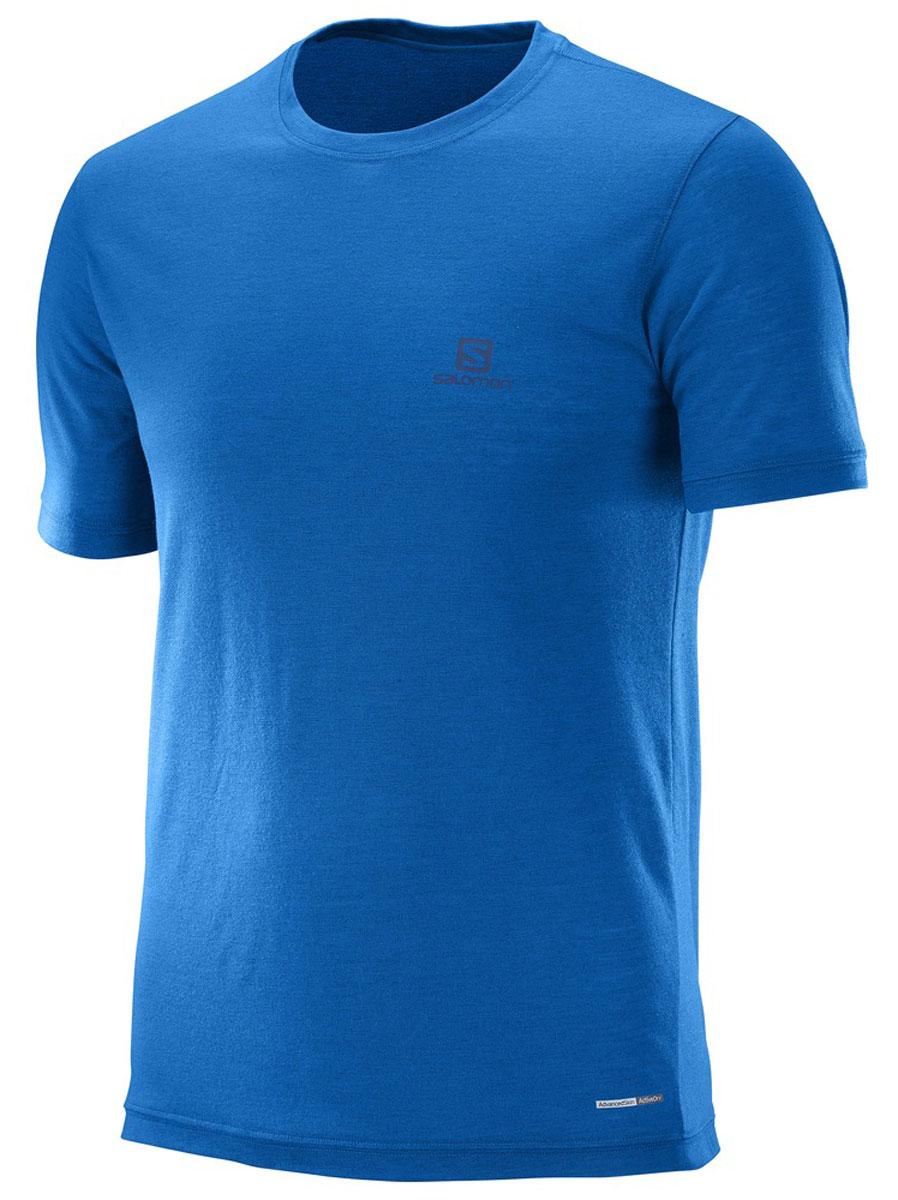 ФутболкаL39309200Мягкий быстросохнущий полиэстер, из которого изготовлена футболка Salomon, практически не ощущается на теле. Благодаря контрастной вышивке на спине и меланжевой ткани этот предмет гардероба подходит для любого события.