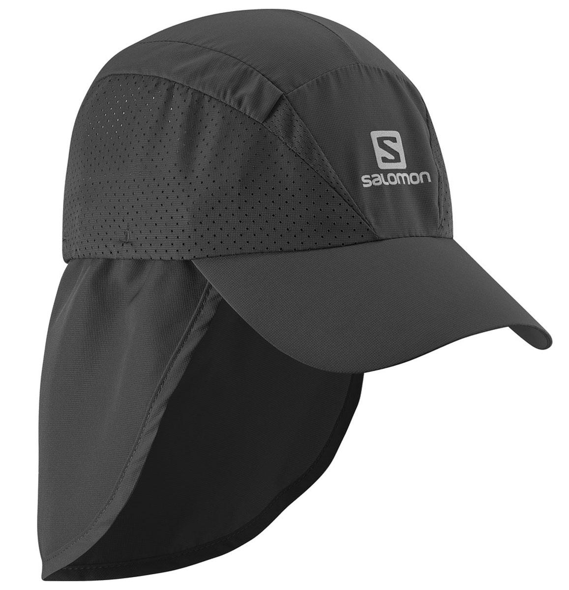 Кепка Salomon Cap Xa+, цвет: черный. L37929300. Размер L/XL (59)L37929300Новый лаконичный силуэт, низкий вес и хорошая вентиляция: кепка XACap быстро сохнет, сохраняя чувство свежести и комфорта во время беге. Дополнительная защита шеи от прямых солнечных лучей.