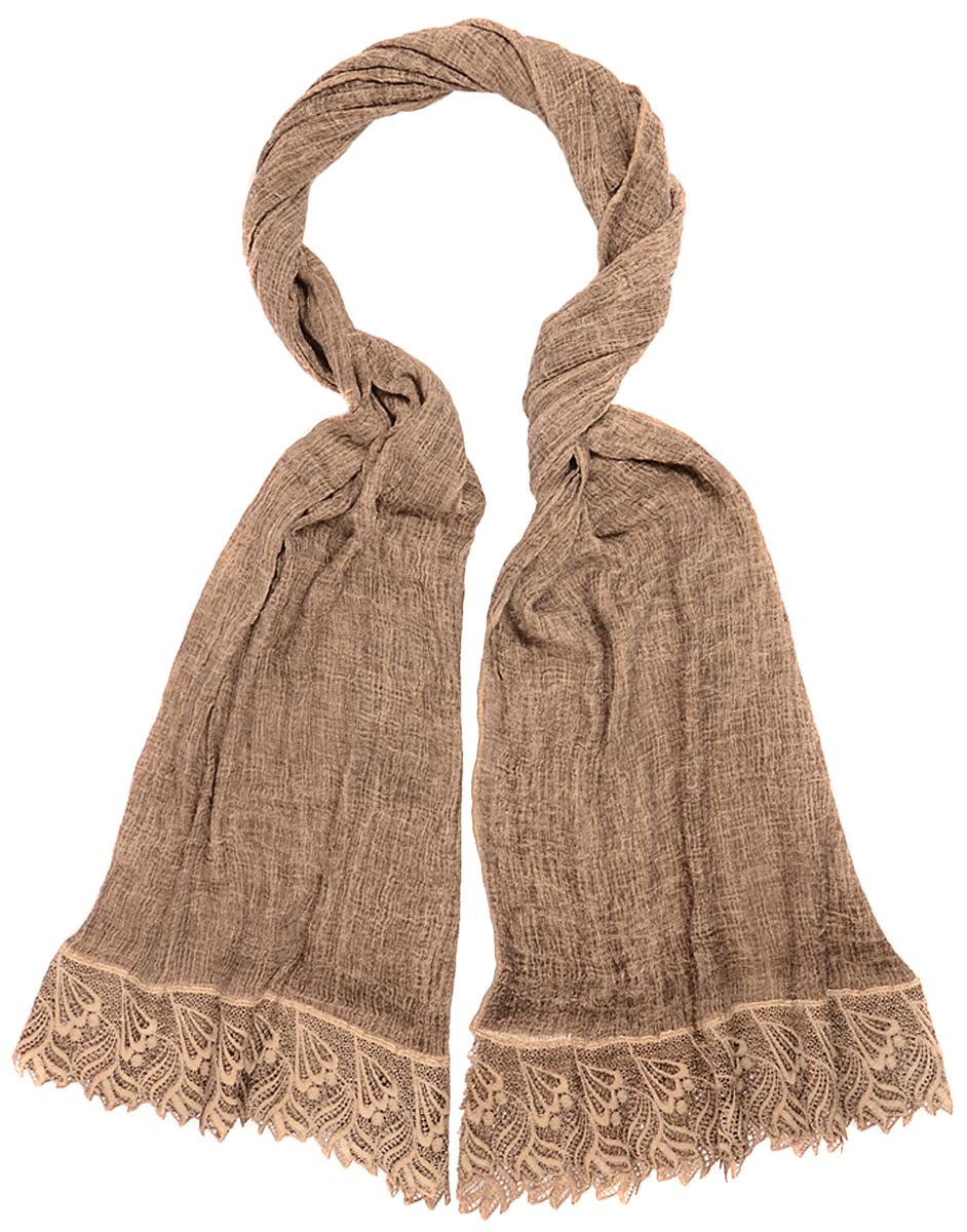 Палантин Laccom, цвет: коричнево-серый. 3201. Размер 190 см х 80 см3201KПалантин от Laccom, выполненный из высококачественного материала, приятный на ощупь и подойдет к любому стилю.
