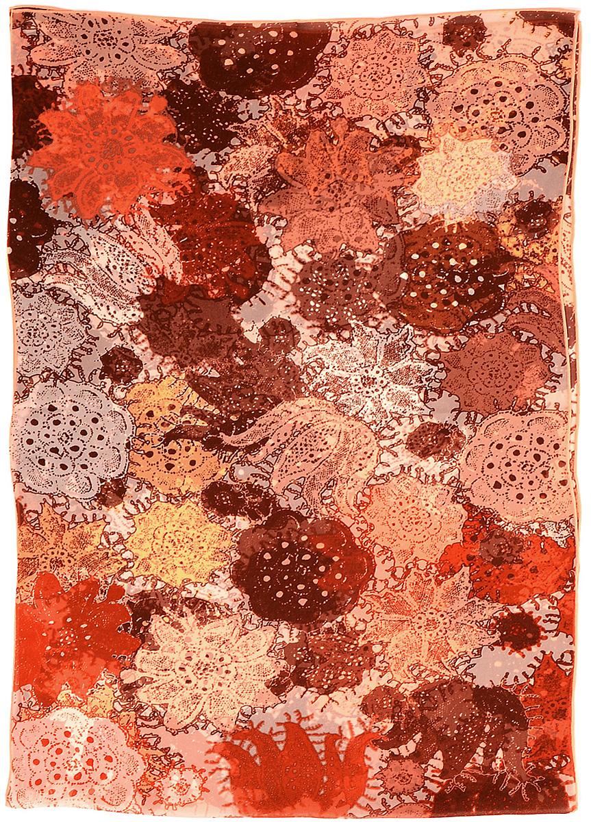 Платок3118MСтильный платок Laccom изготовлен из шелка. Модель оформлена оригинальным принтом. Изделия Laccom приятные на ощупь и подойдут к любому стилю.