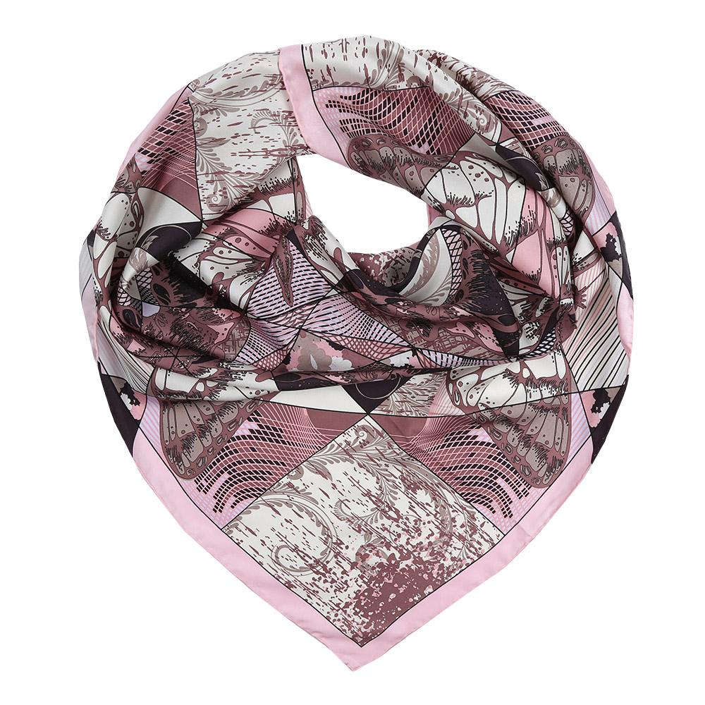 Платок женский Fabretti, цвет: розовый, коричневый. CX1617-22-5. Размер 90 см х 90 смCX1617-22-5Изысканный женский платок Fabretti выполнен из натурального шелка, который придает изделию неповторимый роскошный блеск и гладкость фактуры. Тонкая и прочная нить, создающая струящуюся ткать, подчеркнет изысканный вкус своей обладательницы.