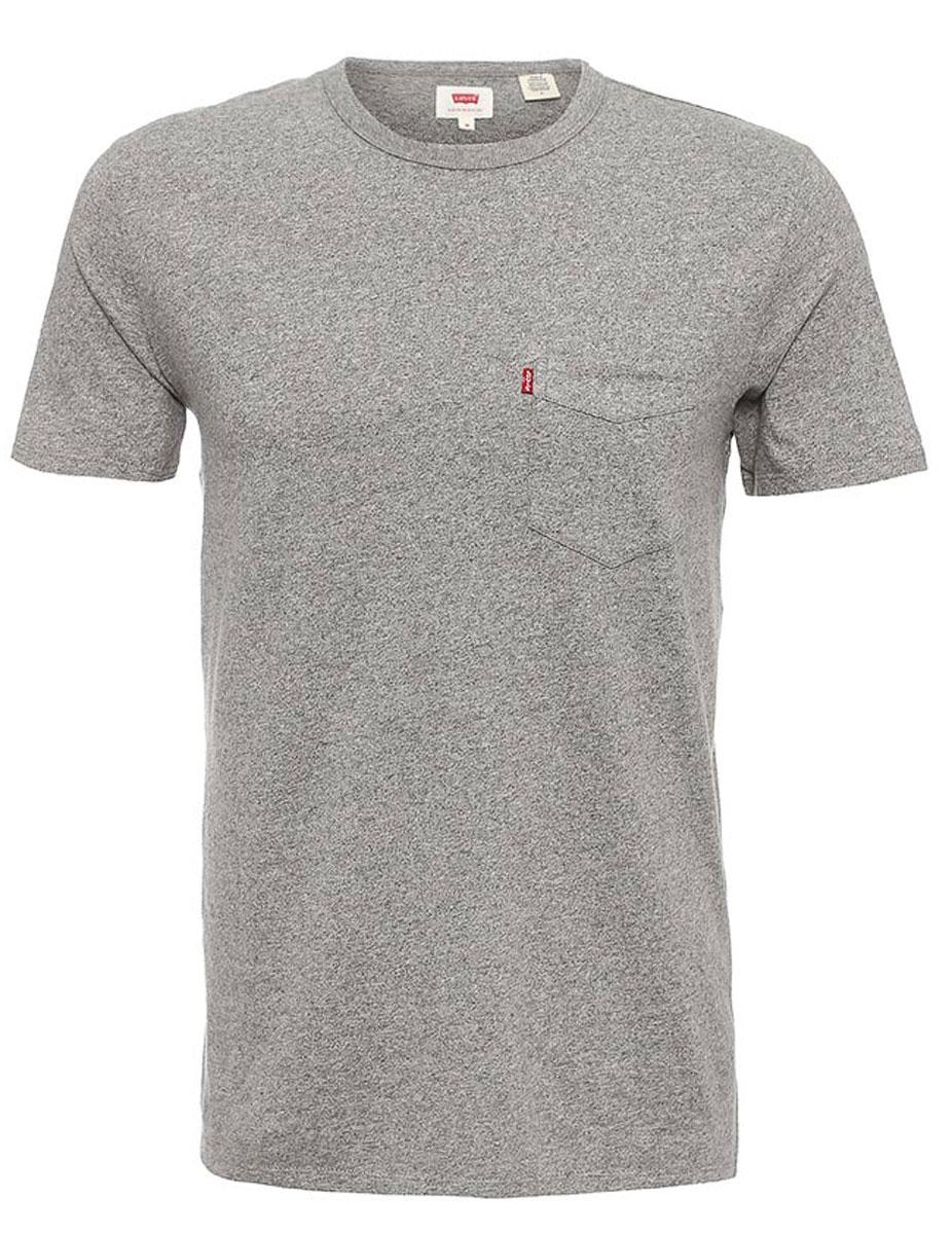Футболка1579800460Мужская футболка Levis® изготовлена из качественного натурального хлопка. Футболка прямого покроя с круглым вырезом горловины на груди дополнена накладным карманом.