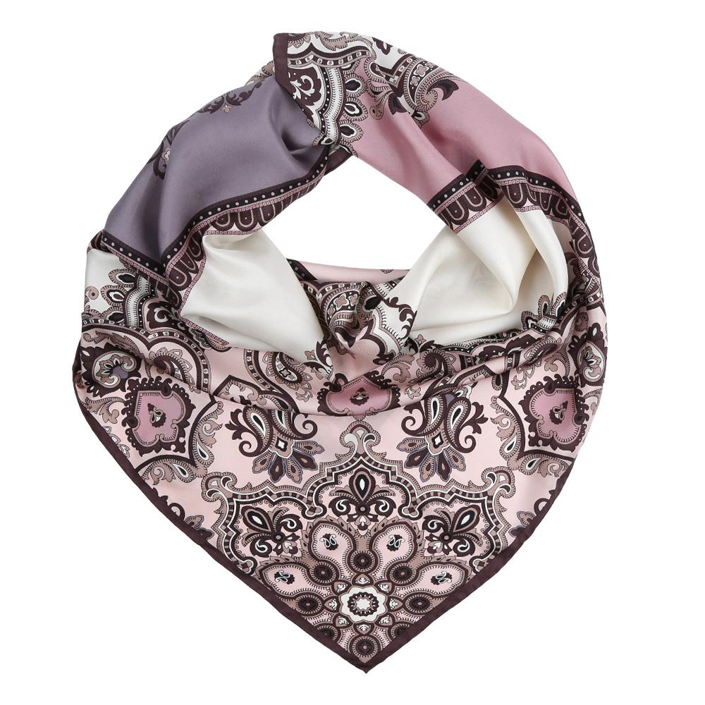 Платок женский Leo Ventoni, цвет: коричневый, розовый, сиреневый. CX1617-21-6. Размер 90 см х 90 смCX1617-21-6Изысканный женский платок Leo Ventoni выполнен из натурального шелка, который придает изделию неповторимый роскошный блеск и гладкость фактуры. Тонкая и прочная нить, создающая струящуюся ткать, подчеркнет изысканный вкус своей обладательницы.