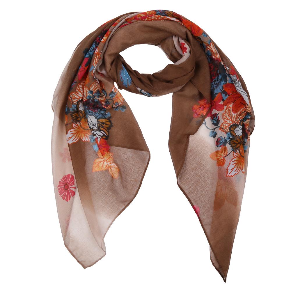 Шарф женский Fabretti, цвет: коричневый. Leo616-2. Размер 180 см х 90 смLeo616-2Элегантный женский шарф от итальянского бренда Fabretti имеет неповторимую мягкость и легкость фактуры. Красочное сочетание цветов позволило дизайнерам создать изысканную модель, которая станет изюминкой любого весеннего образа.