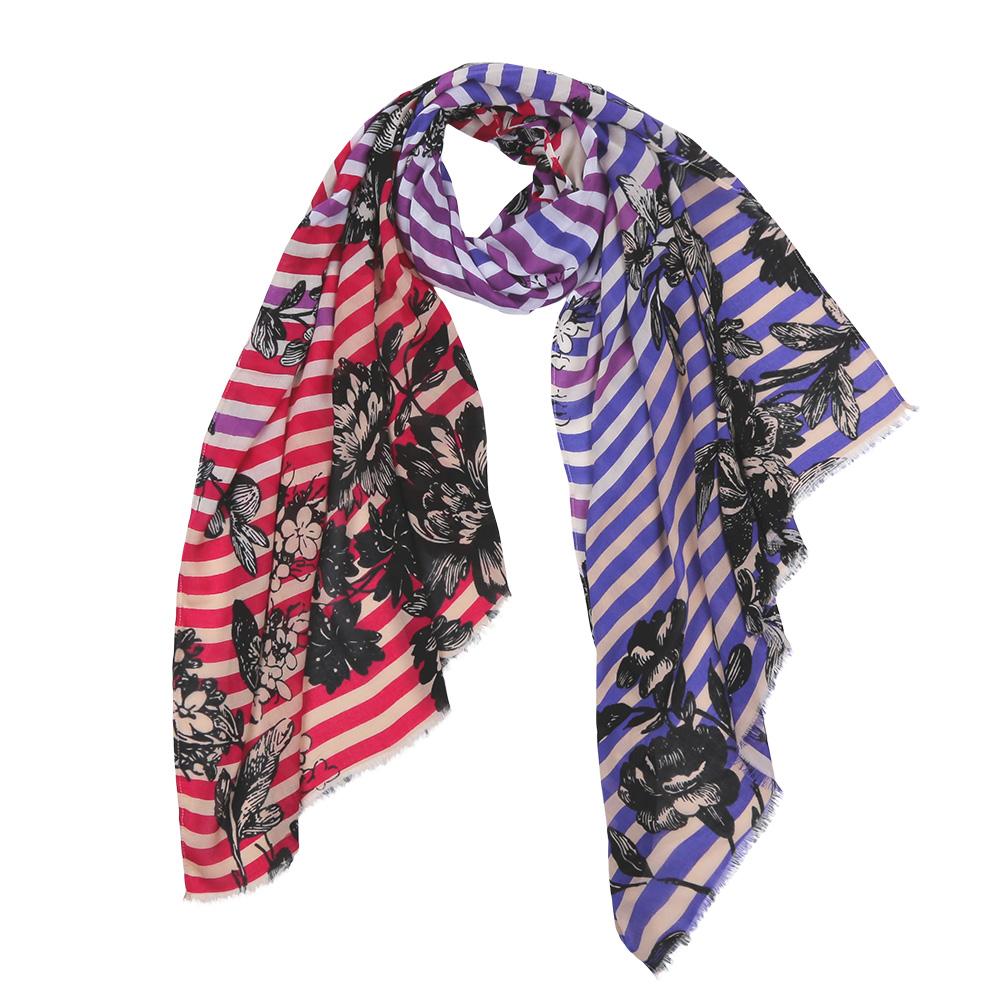 Шарф женский Fabretti, цвет: синий, красный. DS2016-003-1. Размер 180 см х 70 смDS2016-003-1Элегантный женский шарф от итальянского бренда Fabretti имеет неповторимую мягкость и легкость фактуры. Красочное сочетание цветов позволило дизайнерам создать изысканную модель, которая станет изюминкой любого весеннего образа.