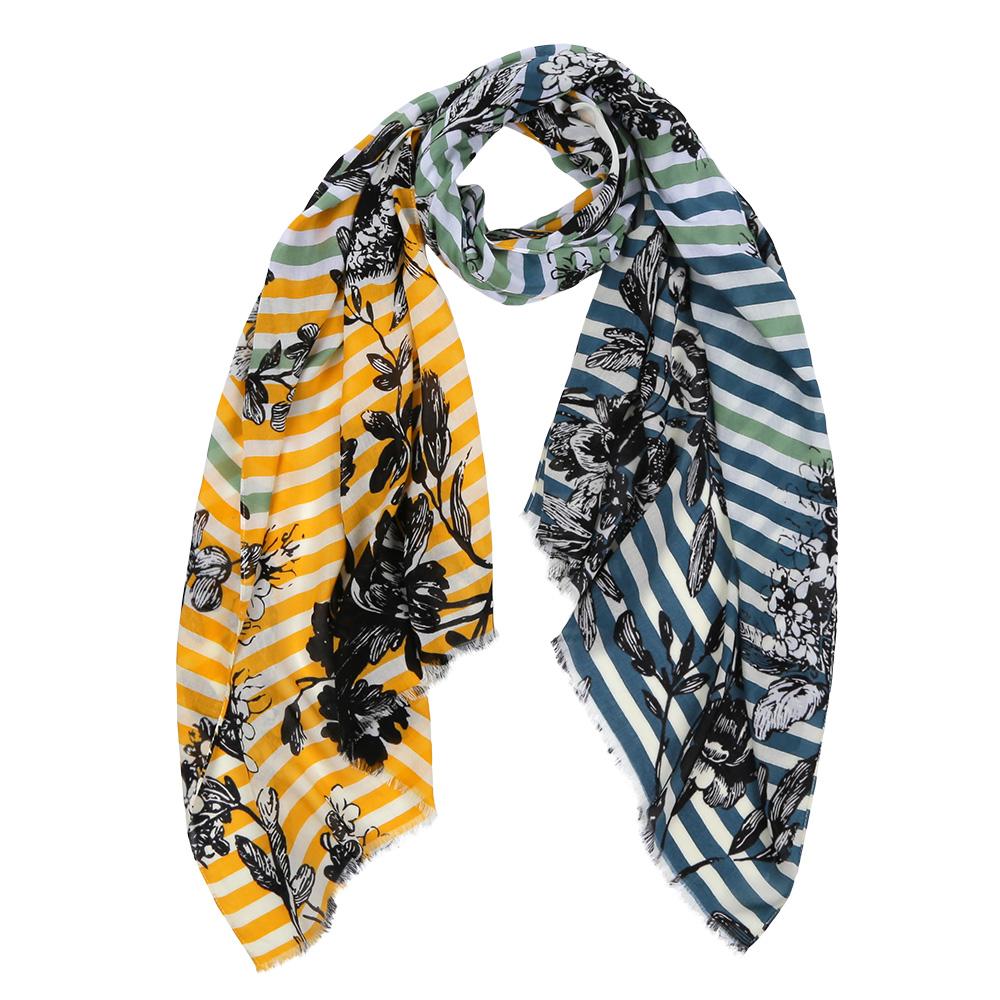 Шарф женский Fabretti, цвет: желтый, бирюзовый. DS2016-003-22. Размер 180 см х 70 смDS2016-003-22Элегантный женский шарф от итальянского бренда Fabretti имеет неповторимую мягкость и легкость фактуры. Красочное сочетание цветов позволило дизайнерам создать изысканную модель, которая станет изюминкой любого весеннего образа.