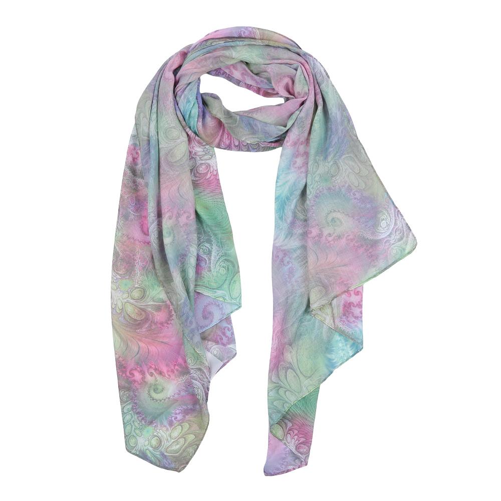 ШарфF1554-2Элегантный женский шарф от итальянского бренда Fabretti имеет неповторимую мягкость и легкость фактуры. Красочное сочетание цветов позволило дизайнерам создать изысканную модель, которая станет изюминкой любого весеннего образа.