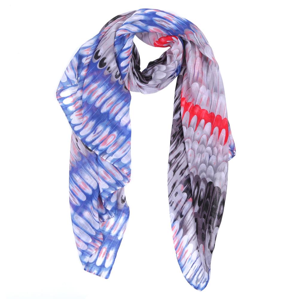 ШарфWJ9363-1Элегантный женский шарф от итальянского бренда Fabretti имеет неповторимую мягкость и легкость фактуры. Красочное сочетание цветов позволило дизайнерам создать изысканную модель, которая станет изюминкой любого весеннего образа.