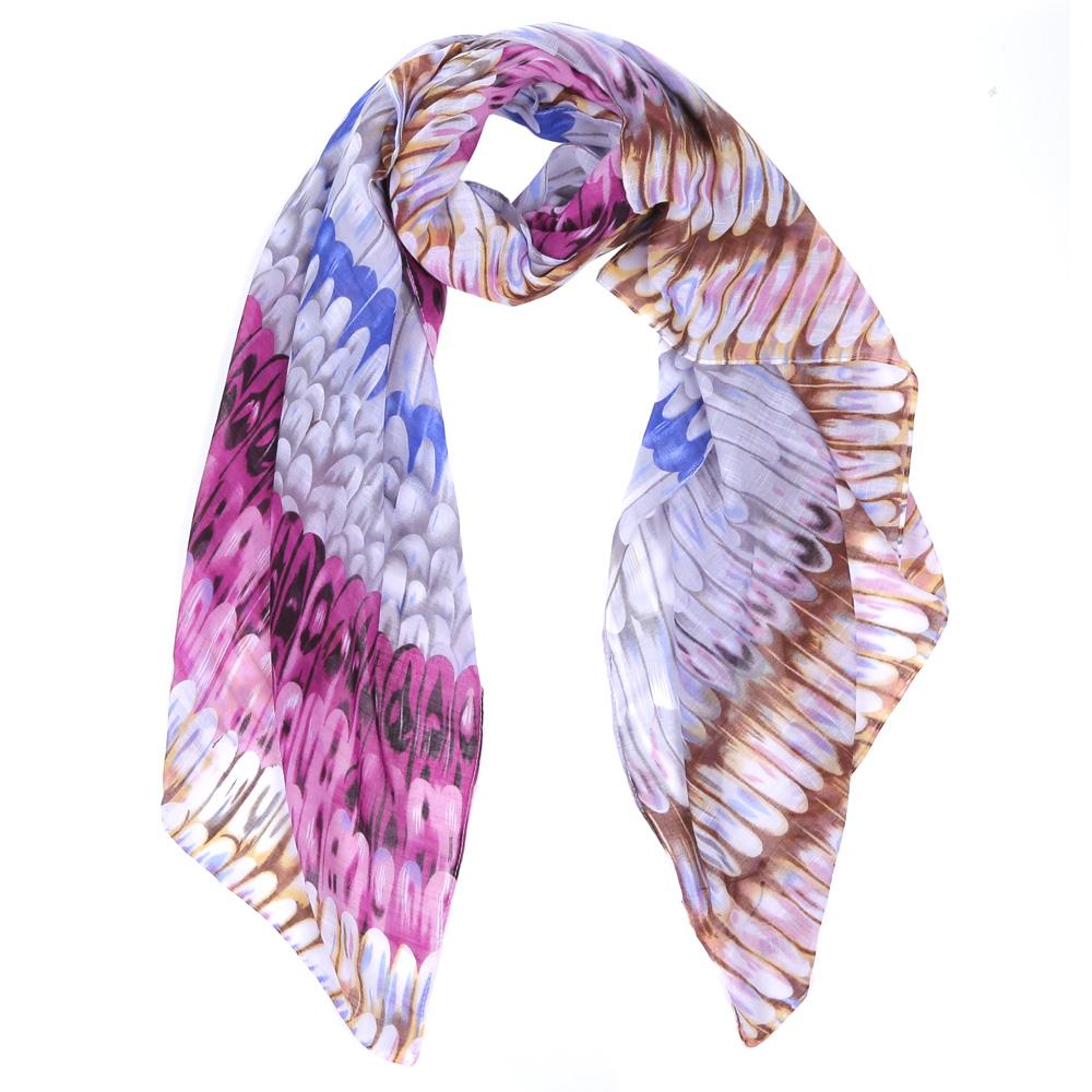 Шарф женский Fabretti, цвет: бежевый, сиреневый. WJ9363-5. Размер 180 см х 90 смWJ9363-5Элегантный женский шарф от итальянского бренда Fabretti имеет неповторимую мягкость и легкость фактуры. Красочное сочетание цветов позволило дизайнерам создать изысканную модель, которая станет изюминкой любого весеннего образа.