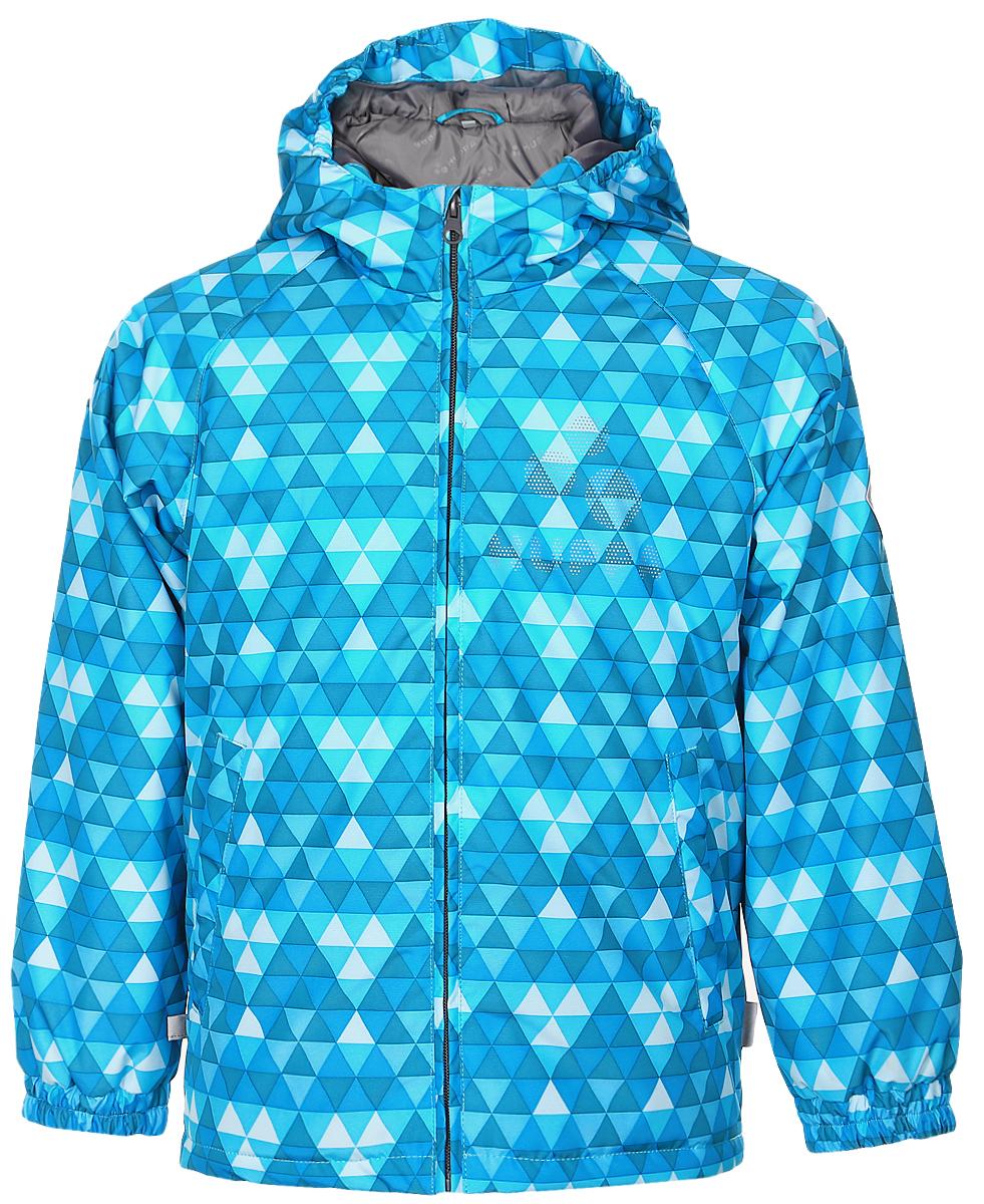 Куртка детская Huppa Classy 1, цвет: бирюзовый, голубой. 17710010-636. Размер 10417710010-636Детская куртка Huppa изготовлена из водонепроницаемого полиэстера. Куртка с капюшоном застегивается на пластиковую застежку-молнию с защитой подбородка. Высокотехнологичный лёгкий синтетический утеплитель нового поколения сохраняет объём и высокую теплоизоляцию изделия. Края капюшона и рукавов собраны на внутренние резинки. У модели имеются два врезных кармана. Изделие дополнено светоотражающими элементами.Выдерживает температуру до -5°C.