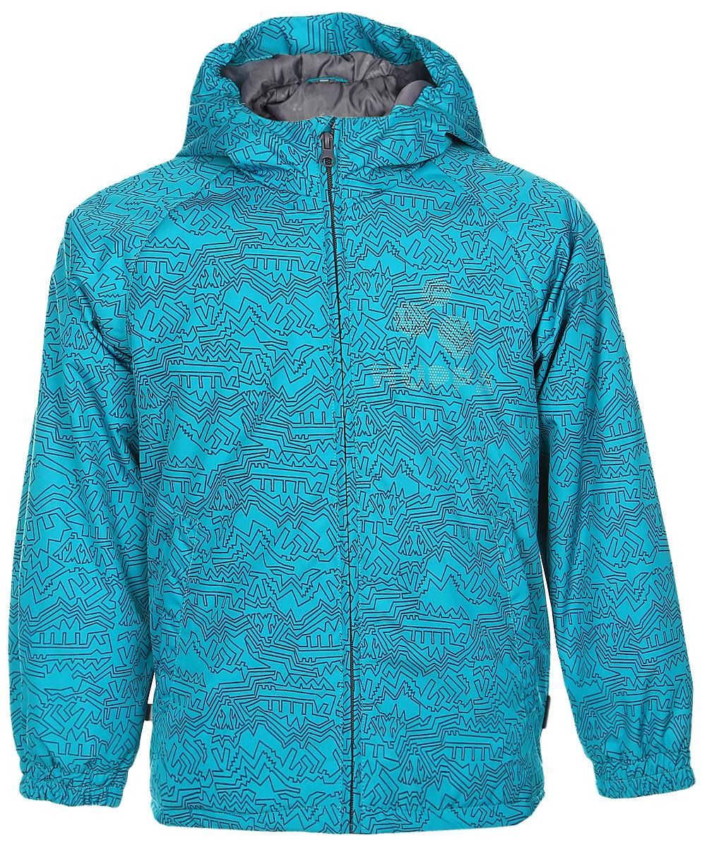 Куртка детская Huppa Classy 1, цвет: бирюзовый. 17710010-966. Размер 13417710010-966Детская куртка Huppa изготовлена из водонепроницаемого полиэстера. Куртка с капюшоном застегивается на пластиковую застежку-молнию с защитой подбородка. Высокотехнологичный лёгкий синтетический утеплитель нового поколения сохраняет объём и высокую теплоизоляцию изделия. Края капюшона и рукавов собраны на внутренние резинки. У модели имеются два врезных кармана. Изделие дополнено светоотражающими элементами.Выдерживает температуру до -5°C.