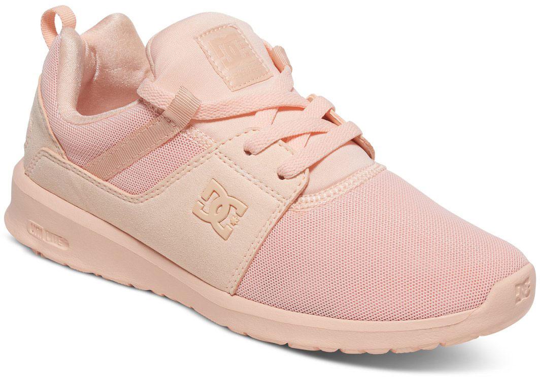 Кроссовки женские DC Shoes Heathrow, цвет: светло-розовый. ADJS700021-PCR. Размер 6,5B (37,5)ADJS700021-PCRСтильные женские кроссовки DC Shoes Heathrow - отличный вариант на каждый день.Модель выполнена из текстиля. Шнуровка надежно фиксирует обувь на ноге. Резиновая подошва с протектором гарантирует отличное сцепление с поверхностью. В таких кроссовках вашим ногам будет комфортно и уютно.