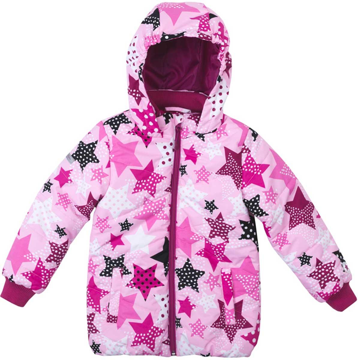 Куртка172051Яркая стильная утепленная куртка со специальной водоотталкивающей пропиткой защитит вашего ребенка в любую погоду! Мягкие трикотажные резинки на рукавах защитят вашего ребенка - ветер не сможет проникнуть под куртку. Специальный карман для фиксации застежки-молнии не позволит застежке травмировать нежную детскую кожу. За счет мягких резинок, капюшон не упадет с головы даже во время активных игр. Светоотражатели на рукаве и по низу изделия позволят видеть вашего ребенка даже в темное время суток.