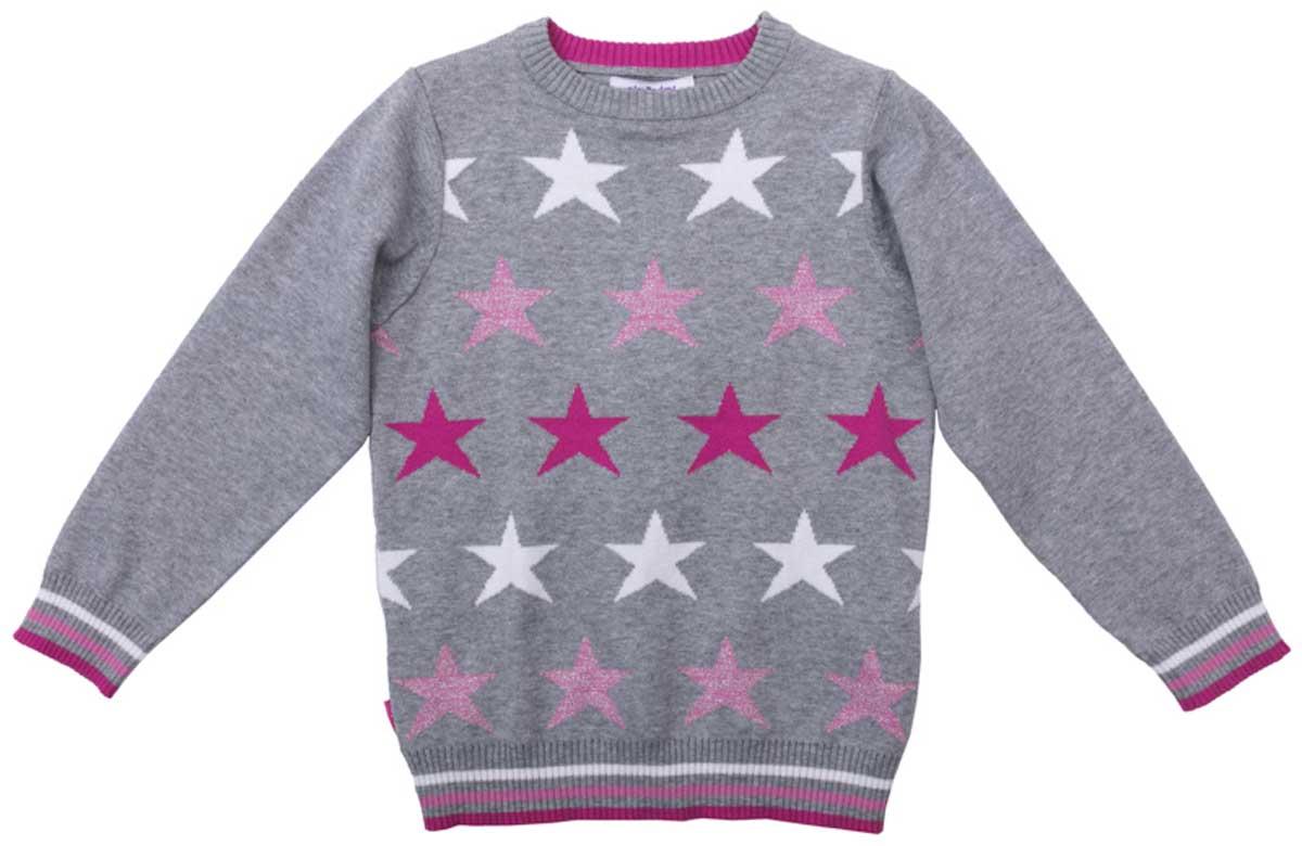 Джемпер для девочки PlayToday, цвет: серый, розовый, светло-розовый, белый. 172058. Размер 110172058Джемпер с округлым вырезом прекрасно подойдет для прохладной погоды. Натуральная ткань приятна к телу и не сковывает движений ребенка. Мягкие резинки на манжетах, горловине и по низу изделия. Материал изделия изготовлен методом yarn dyed - в процессе производства в полотне используются разного цвета нити. Тем самым изделие, при рекомендуемом уходе, не линяет и надолго остается в прежнем виде, это определенный знак качества.